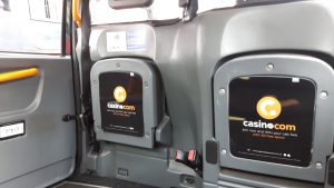 Mansion Casino Taxi Advertising Campaign London Supersides Tip Seats