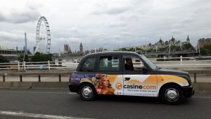 Mansion Casino Taxi Advertising in London