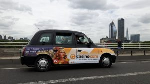 Mansion Casino Taxi Campaign by Sherbet London
