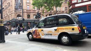 Mansion Casino Sherbet London Taxi Campaign