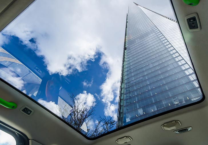 Ride Sherbet Panoramic Rooftop The Shard London Electric Taxi TX5