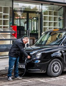 Sherbet London Ride Drive Taxi Driver Charging Point Electric Taxi Cab Charging