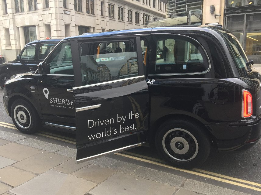 Hire Sherbet London TXE Electric Taxi – LL18 XJD