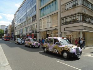 Taxi Advertising for Boohoo by Sherbet London
