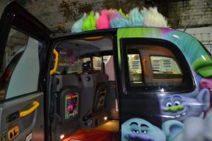 Taxi Interior During Trolls Dvd Release - 20th Century Fox Campaign