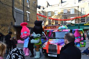 People Enjoying Sherbet London Taxi Campaign