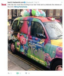 Sherbet London Taxi Advertising