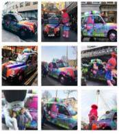 Sherbet London Taxi Campaign Photos