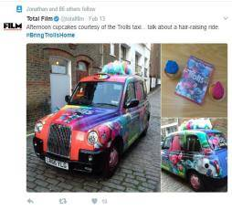 Taxi Advertising by Sherbet London