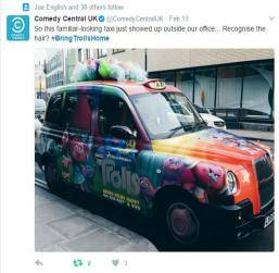 Sherbet London Taxi Advertising on Social Media