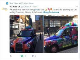 Sherbet London Taxi Campaign Twitter Post