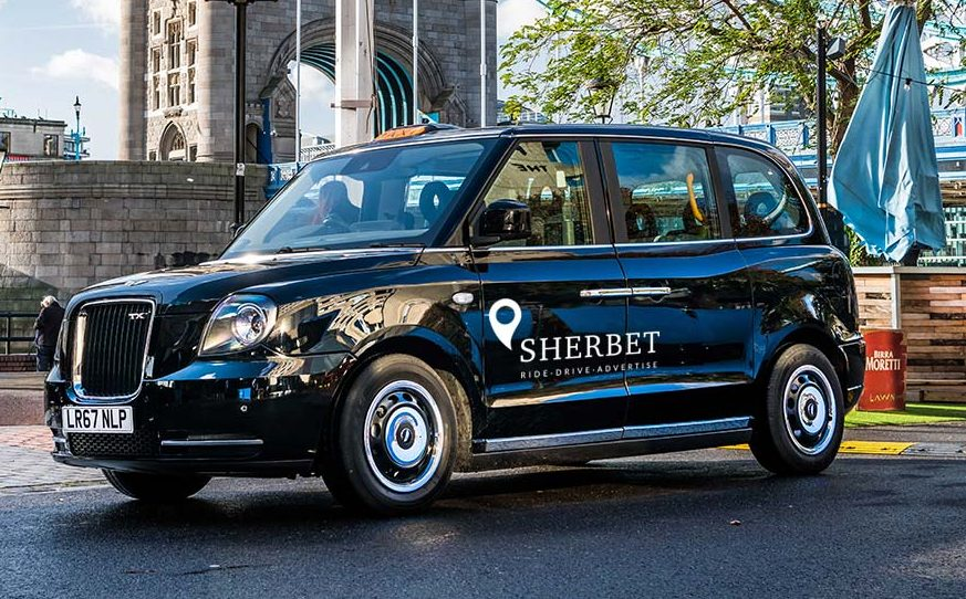 Ride Sherbet London Sherbet London Ride Drive Advertise TX5 The Electric Taxi London