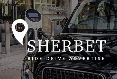 New-Sherbet-Site Sherbet London Ride Drive Advertise TX5 The Electric Taxi London #electricevolution