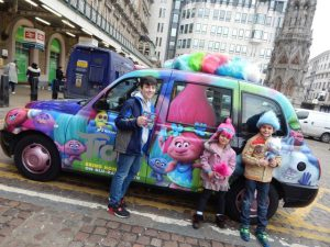 Trolls Dvd Release Taxi Campaign by Sherbet London