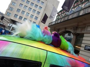Taxi Advertising for Trolls Dvd Release