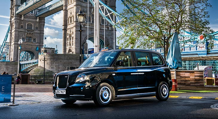sherbet drive TX5 Electric Taxi Sherbet London London Bridge