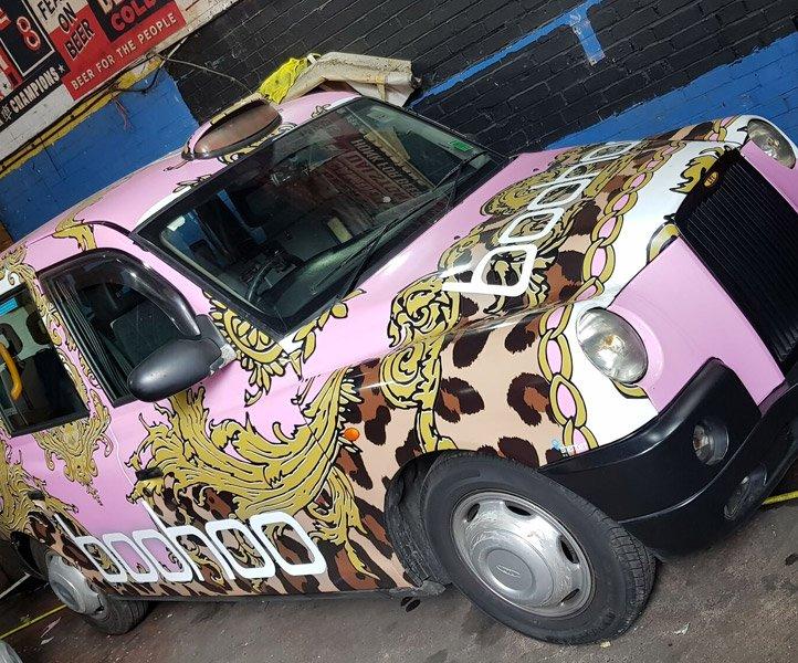 LB08 LHJ TX Sherbet London Taxi Drive