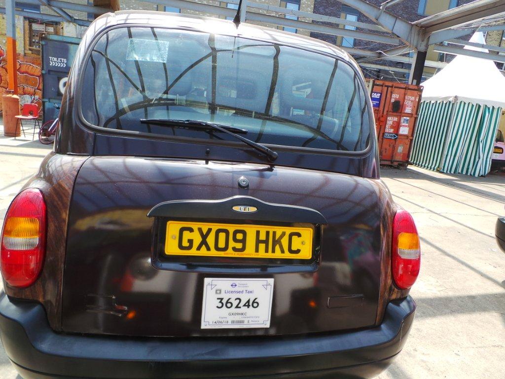Rear View of TX4 – Euro 4 – GX09 HKC Taxi