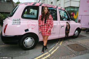 Dani Dyer In The Style Pink Taxi London Dani On Tour Sherbet Media OOH PR