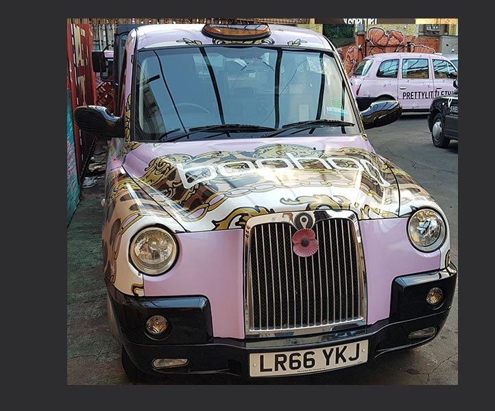 LR66YKJ Taxi Sherbet London