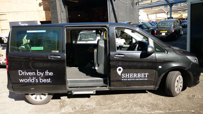 Sherbet London Drive Mercedes Vito Taxi