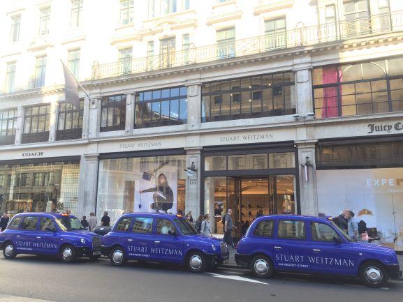 Stuart Weitzman Regent Street London Sherbet Media Taxi Advertising Campaign Full Livery