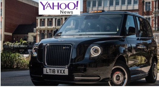 Sherbet London Electric taxi fleet Yahoo! News Article