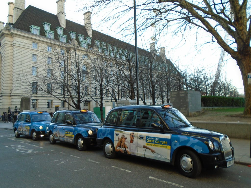 Bringing Florida's Sunshine With Tampa Bay and Bradenton - Sherbet London Taxi Campaign