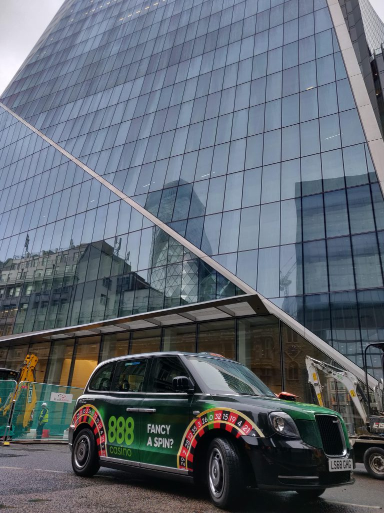 888 Casino Wheel Roulette Campaign - Sherbet London Electric Taxis