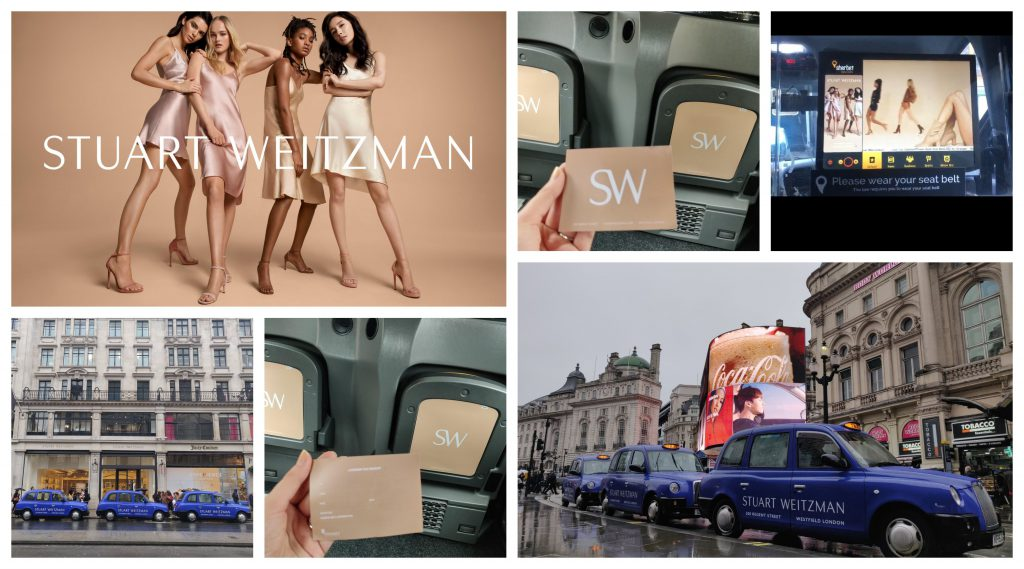 Stuart Weitzman Kendall Jenner Taxi Advertising Sherbet London