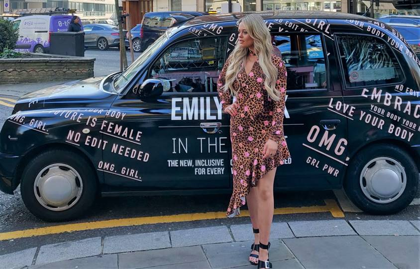 ITS Emily Atack In The Style Sherbet London Media Taxi