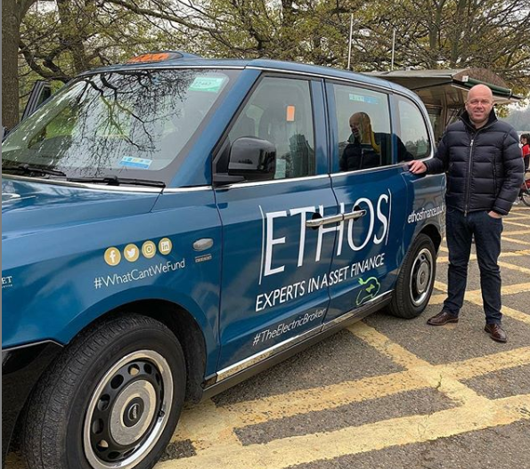 Sherbet Ride London Electric Taxi Ethos Finance