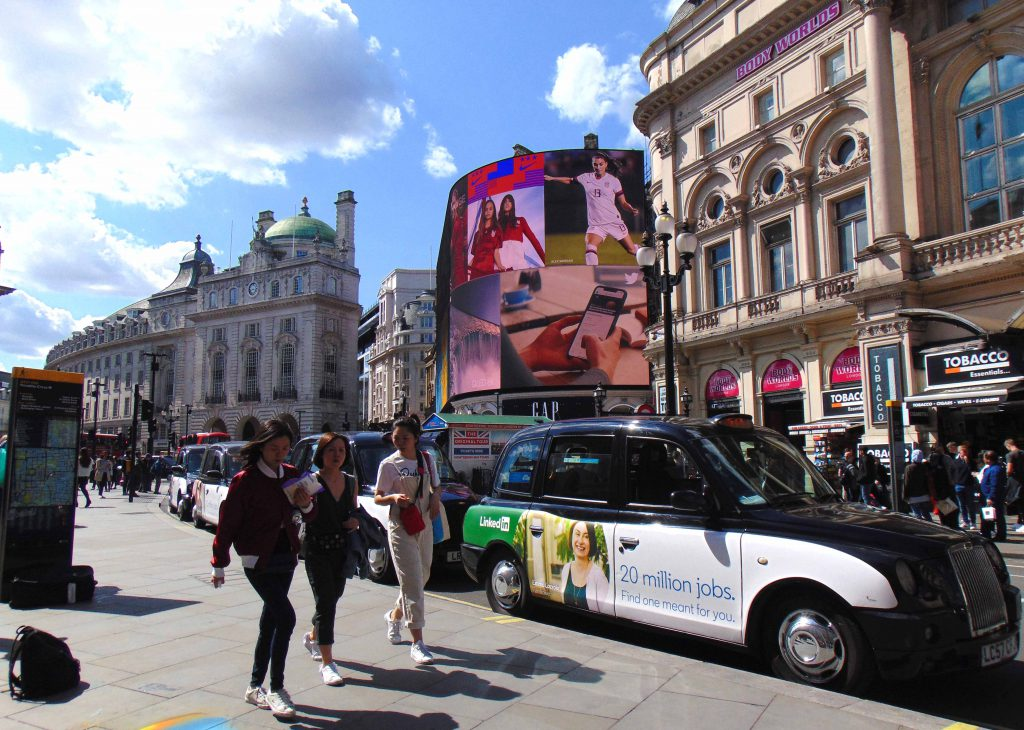 Sherbet Media LinkedIn Taxi Advertising Campaign London