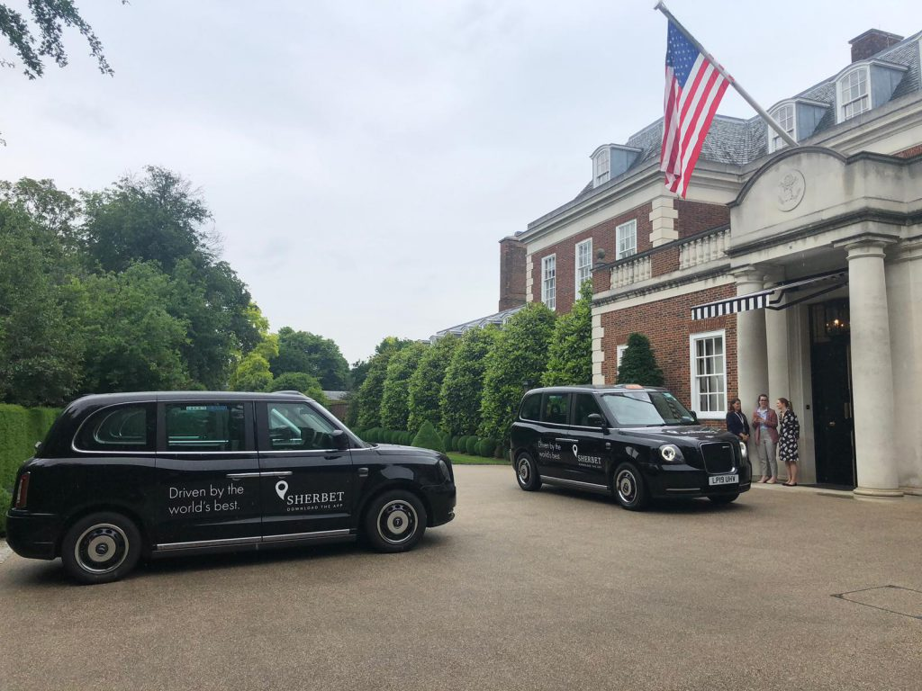 Sherbet Ride US Embassy Electric Taxis