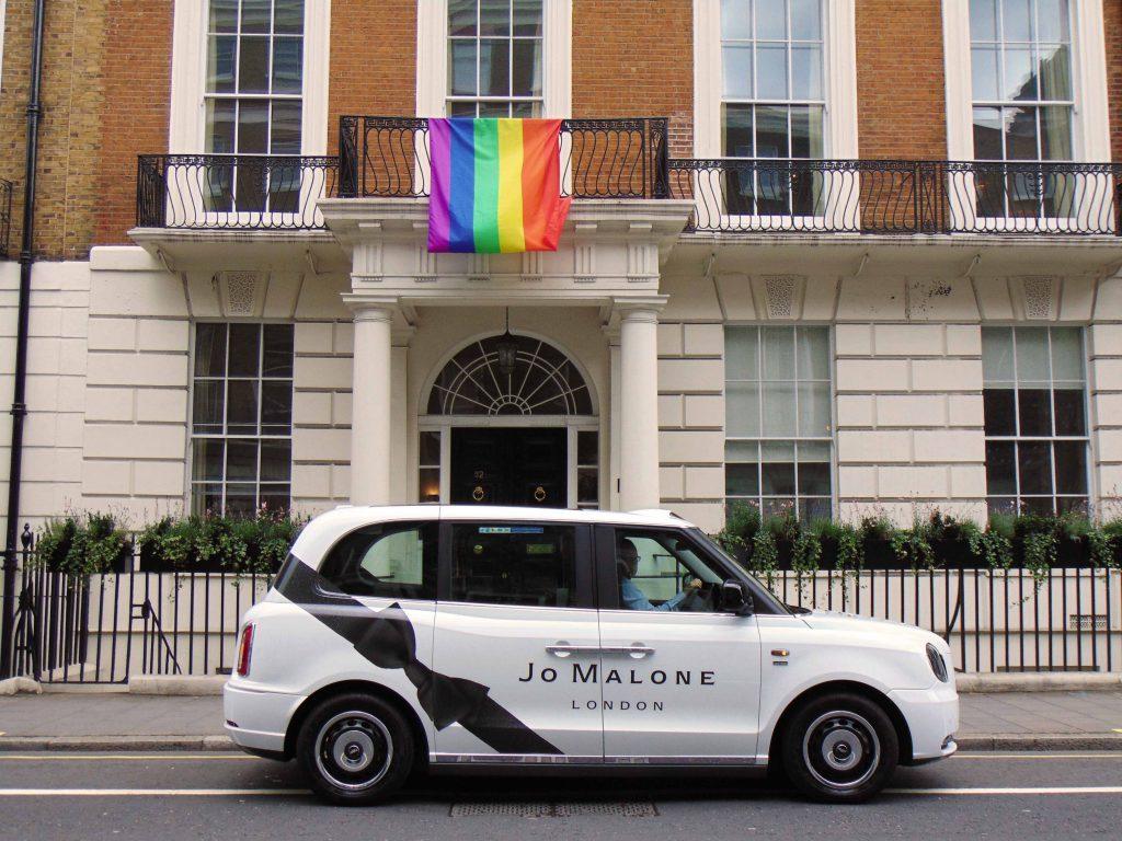 Jo Malone Sherbet Media Ride Electric Taxi for John Boyega