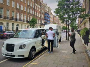 John Boyega Sherbet Electric Taxi Jo Malone London