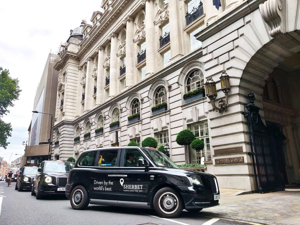 Sherbet Ride Electric Taxis Rosewood Hotel London