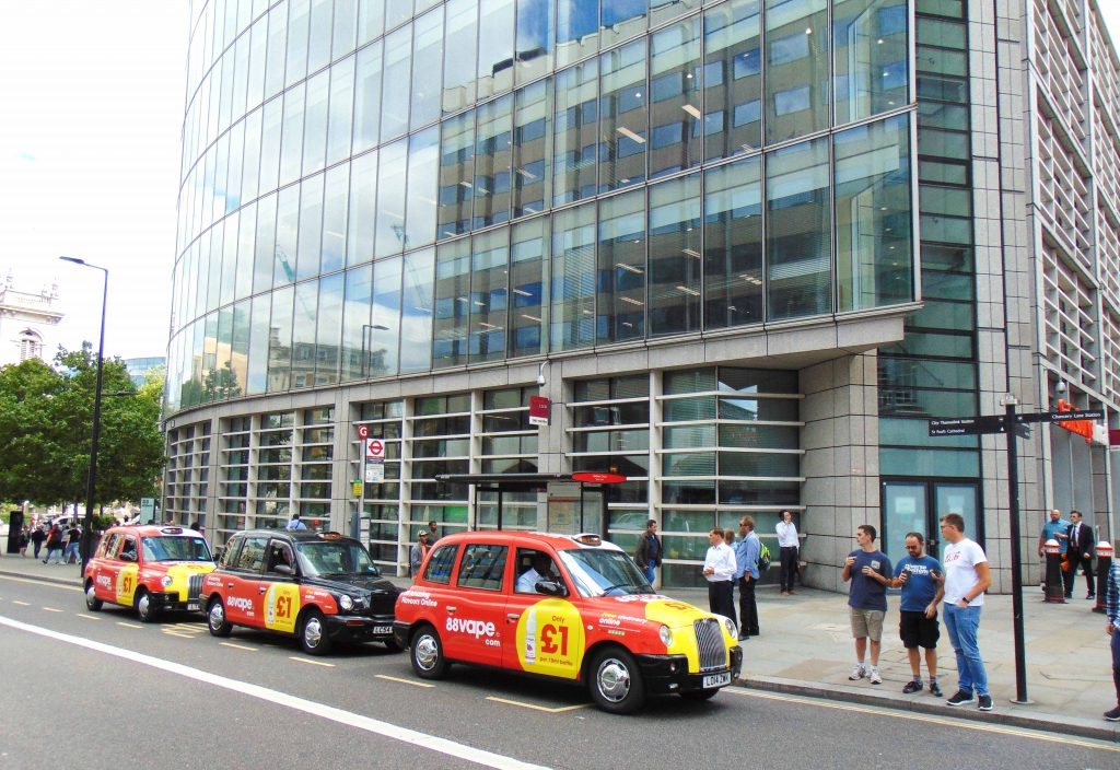 88vape.com Sherbet Media Taxi Advertising Campaign London