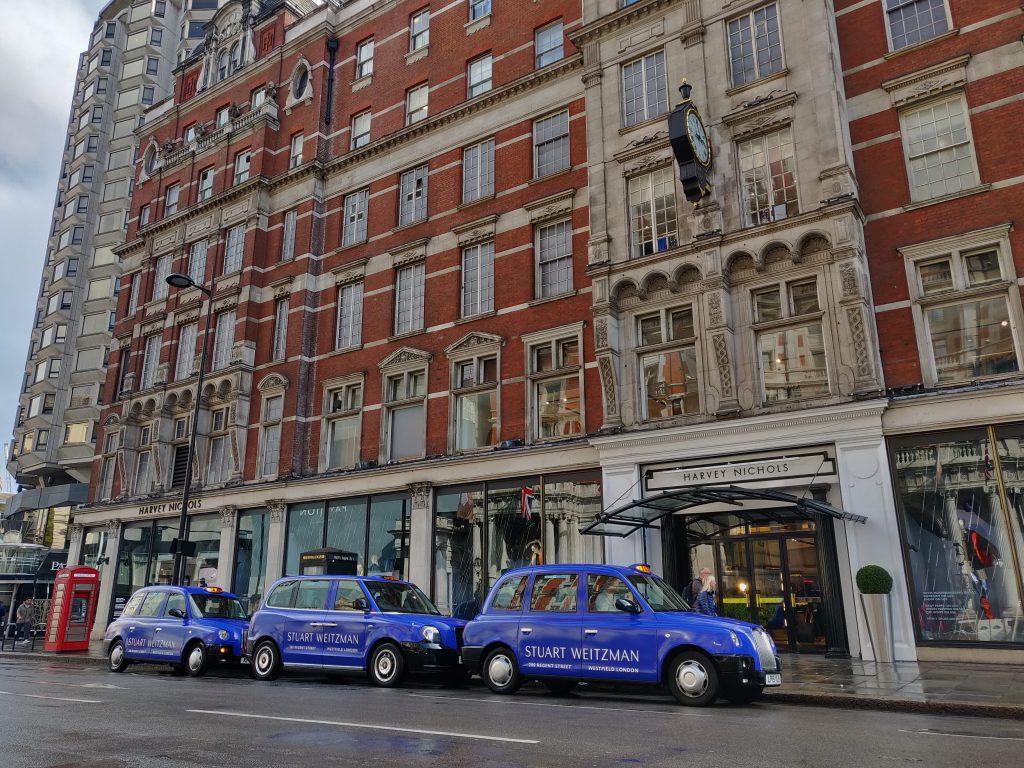 Sherbet Media Stuart Weitzman London Electric Taxis Harvey Nicols