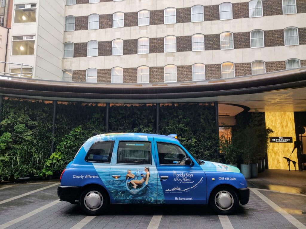 Sherbet Media Florida Keys Taxi Hotel London Advertising