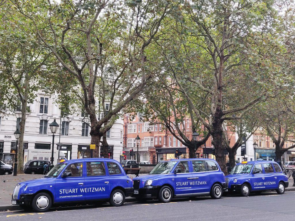 Sherbet Media Stuart Weitzman Electric Taxis London