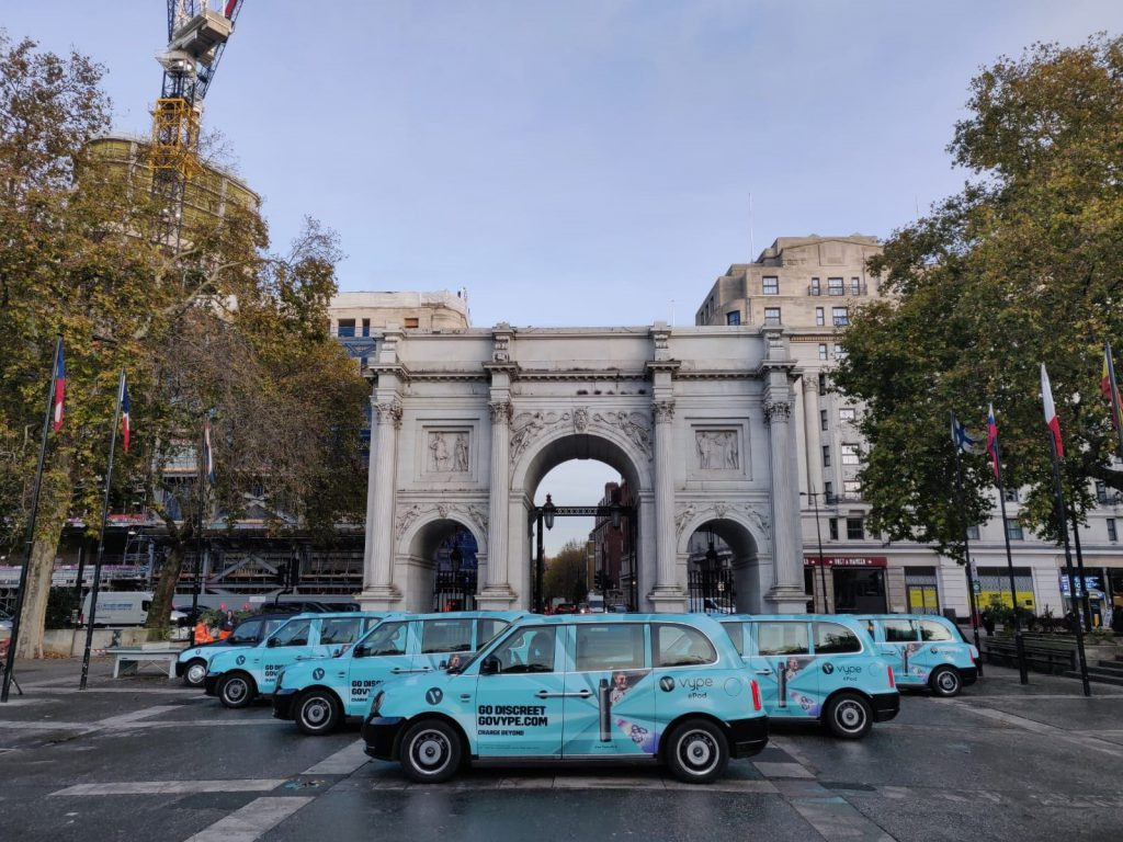 Sherbet Media Vype Marble Arch Advertising London