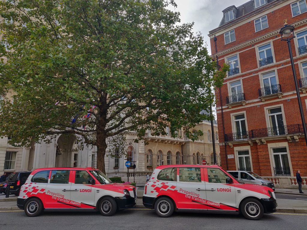Sherbet Media Longi electric taxi London advertising