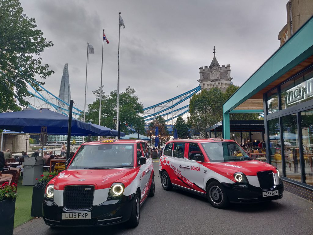 Sherbet Media Longi electric taxis London advertising