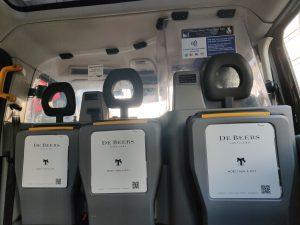 Sherbet London Media De Beers taxi tip seats