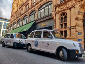 Sherbet London Media De Beers electric taxi Harrods