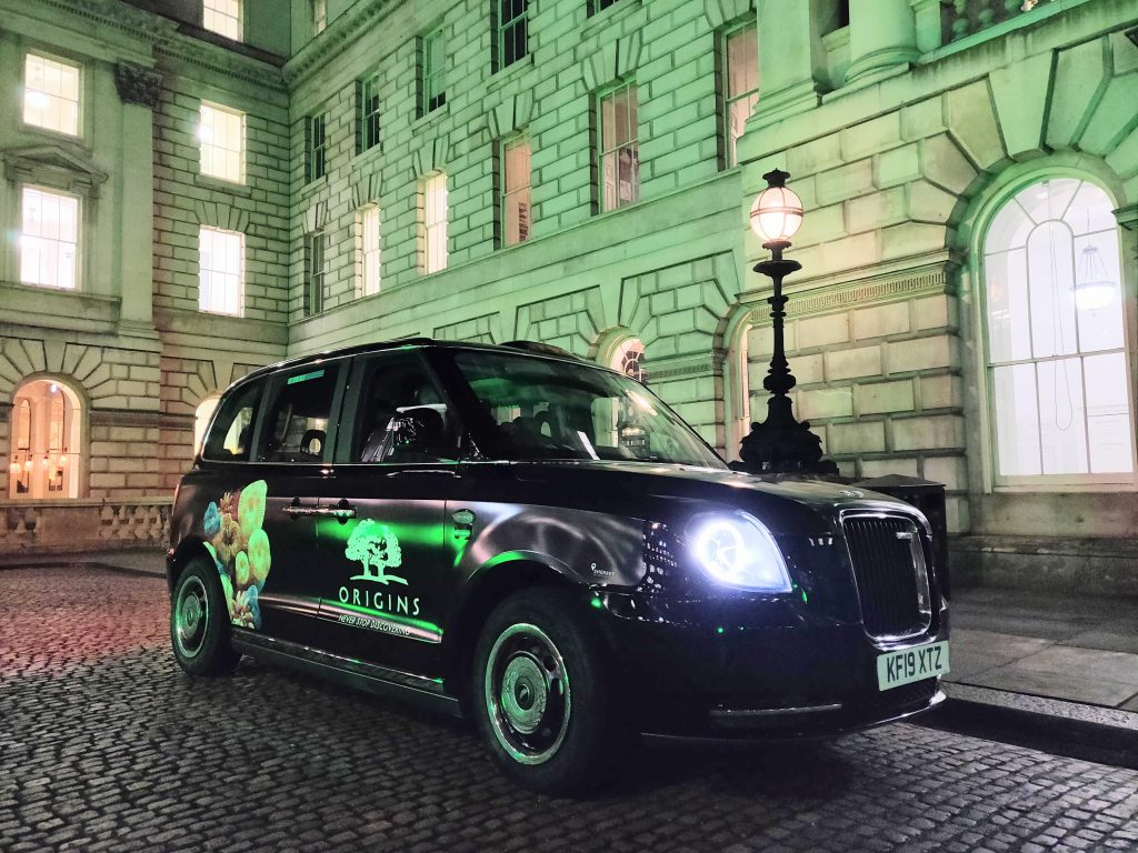 Origins Electric Taxi Sherbet Media London Somerset House