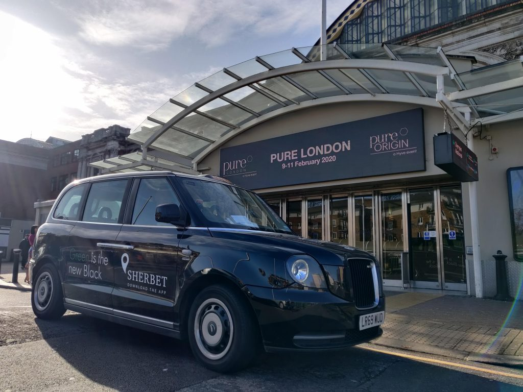 Sherbet Ride London Electric Taxi Pure Show