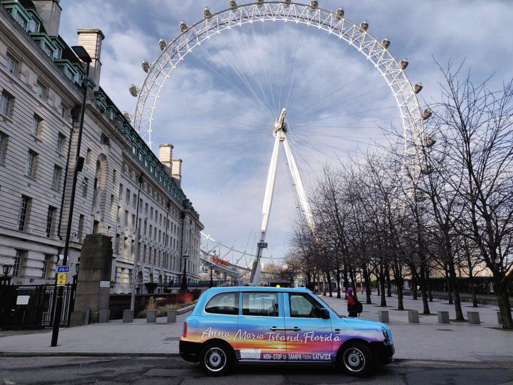 Electric Taxi Bradenton London Eye Livery