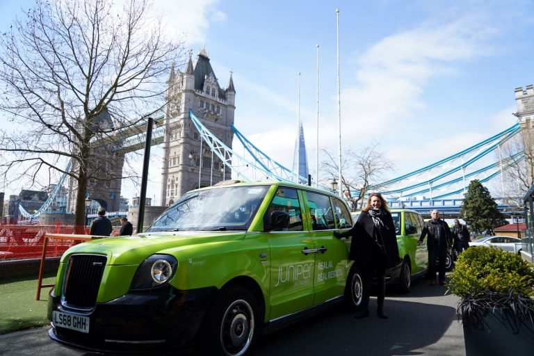 Sherbet Electric Taxi Media Campaign London Juniper Networks